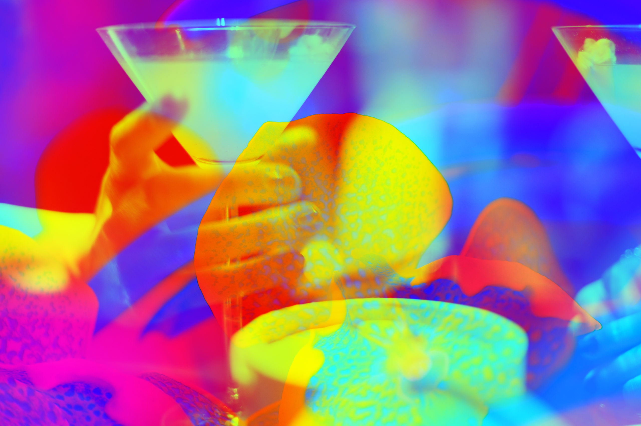 Blurred cocktails